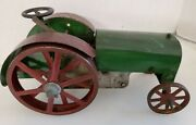 Antique 1920s Structo Farm Tractor Pressed Steel Toy Wind Up Non-working