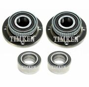 Front And Rear Wheel Bearings And Hubs Kit Timken For Bmw E30 318i 325i 325is Rwd