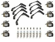 Ignition Wires 8 Coils 8 Spark Plugs Kit Acdelco For Rainier Envoy Xl Ssr V8