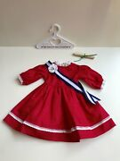 American Girl Pleasant Company Addy's Patriotic Party Dress, Sash And Scroll