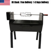 Portable Bbq Grill Charcoal Rotisserie Lamb Outdoor Barbecue Spit Roast Usa New