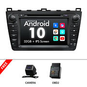 Cam+obd+ Android 10 8 Car Stereo Gps Navigation Dvd Usb Sd For Mazda 6 2009-12