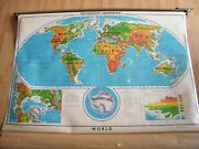 Pull Down Roll Up World Wall Map