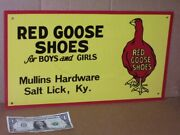 Red Goose Shoes Salt Lick Ky - Southern Area Dixie Sign - Mullins Hardware Store
