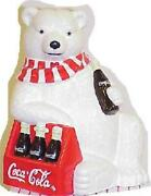 Cookie Jar Coca-cola Polar Bear With Six Pack Mint In Box Never Used