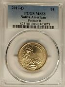 2017-d Native American Sacagawea Dollar Pcgs Ms68 Position B - Registry Coin