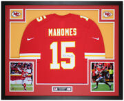 Patrick Mahomes Autographed And Framed Red Kansas City Chiefs Jersey Auto Beckett