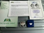 175 Years Of Melbourne Mcg Macquarie Mint Medallion Finished In Pure Silver