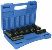 Grey Pneumatic 1708sn 1/2 Drive 8-piece 12-point Spindle/axle Nut Socket Set