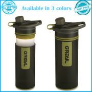 Portable Outdoors Survival Tool Water Purifier Bottle 24-oz. Vessel Capacity New