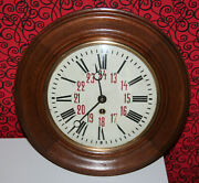 Watch Antique Cabinet Rooms Vintage Wall Clock Lenzkirch 1918 -1919 Year Vintage