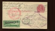 C13 Graf Zeppelin Air Mail Used Stamp On Nice Uprated Post Card C13-220