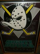 1993-94 Mighty Ducks Of Anaheim Inaugural Team Autographed Poster 36x 24 Euc