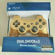 Gold Ps3 Controller Playstation 3 Dualshock 3 Wireless Sixaxis Gamepad
