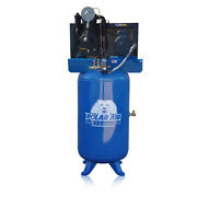5 Hp Air Compressor 2 Stage Single Phase 80 Gallon Tank Vertical Industrial