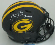 Packers Aaron Rodgers Signed Full Size Eclipse Authentic Helmet Auto W/3xmvp Fan