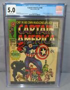 Captain America 100 1st Issue, Black Panther App Cgc 5.0 Vg/fn Marvel 1968