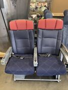 Authentic 767-300 Aircraft Row Of 2 Seats - One Set Only