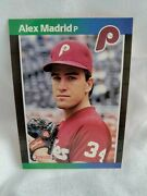🔥1989 Donruss Alex Madrid 604 Rookie Ready For Grading No Period After Inc