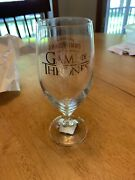 Ommegang Brewery Game Of Thrones Gold Logo 7 3/8 Limited Edition Beer Glass