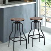 Adjustable Swivel High Kitchen Chairs Set Of 2 Round Chairs Barstools A4g7