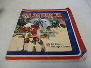 1972 Nfl Action Stamp Album With Stamps