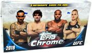 2019 Topps Ufc Chrome Hobby Box Blowout Cards
