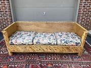 A Vintage Mid Century Wrapped And Stacked Bamboo Sofa Style Of Gabriella Crespi