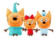 Kid-e-cats Three Little Kittens Set Plush Toy ,soft And Stuffed Doll For Kids Gift