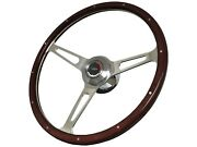 1967 - 1968 Chevy Gm S6 Classic Riveted Wood Steering Wheel Kit