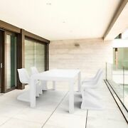 Bloom Extendable Patio Dining Set 5 Piece White