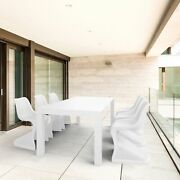 Bloom Extendable Patio Dining Set 7 Piece White
