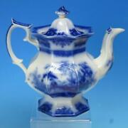 Davenport Flow Blue Ironstone - Amoy - Teapot - Great Condition