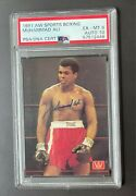 Autographed / Signed 1991 Aw Sports Boxing Muhammad Ali Card - Psa / Dna