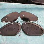 Pair Of Bsa A B C Models Fuel Petrol Tank Rubber Knee Grips + Mounting Plates