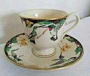 Lenox Birds Of America Hummingbird Cup And Saucer New Old Stock