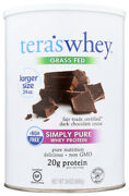 Teraand039s Whey Grass Fed Simply Pure Whey Protein Dark Chocolate Cocoa Flavor 24 Oz