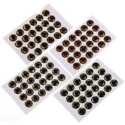 100pcs Holographic Fish Eyes 3d Epoxy Streamer Fly Tying Artificial Accessories