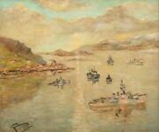 Assembling Convoy P.q. Hval Fiord Iceland 1943 Stanley Grimm 1891-1966