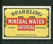 Sparkling Mineral Water Not Less Than 6oz Label Reklamemarke Poster Stamp