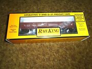 Mth Rail King 30-79139 Pennsylvania Rr Dump Car W/ Operating Bay And Pipe Load