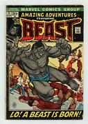 Amazing Adventures 11 Gd/vg 3.0 1972 1st App. Beast In Mutated Form