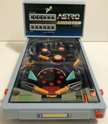 Vintage 1991 Tomy Astro Shooter Tabletop Electric Pinball Game Working With Legs