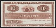 New Zealand Bank Of New South Wales Andpound10 19-- Ca 1924 Proof. Unc. P-s164