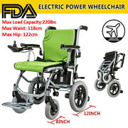 Gn Folding Lightweight Electric Power Wheelchair Mobility Aid Motorized 24v10a