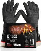 Heat Resistant Gloves For Grill Easy To Clean Bbq Gloves For Smoker Waterproof