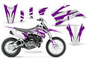 Dirt Bike Graphics Kit Decal Sticker Wrap For Yamaha Ttr110 08-18 Zooted Purp W