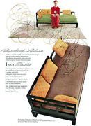 Far East Baker Furniture Day Bed Lurex Thea Tewi Gown Edward Fields Rug 1949 Ad