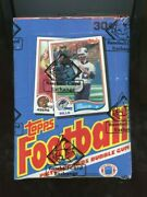 1982 Topps Football Unopened Wax Box Bbce Authenticated Taylor Rc None X Out /1