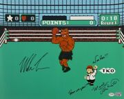 Mike Tyson Charles Martinet Signed Punch Out 16x20 Photo Here We Go' Psa Ai81218